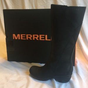 Merrill Emma Tall LTR, Black Noir, size 7.5,